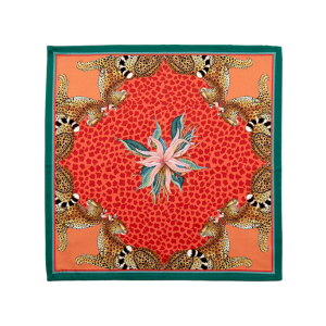 Napkins – Leopard Lilly Coral