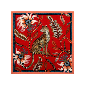 Napkins – Leopard Royal Red