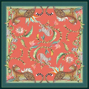 Tablecloth SQ -Monkey Paradise Coral