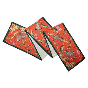 Table Runner Monkey Paradise in Coral