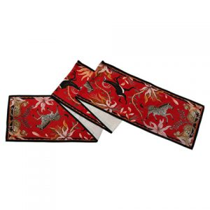 Table Runner Sable in Royal Red